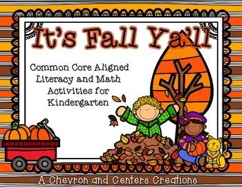 It's Fall Ya'll- Literacy and Math Unit