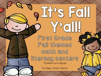 It's Fall Y'all! math and literacy activities