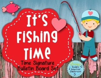 """It's Fishing Time"" Time Signature/Meter Bulletin Board Set"