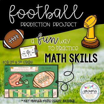It's Football Time~ Super Bowl Craft and Math Sheets