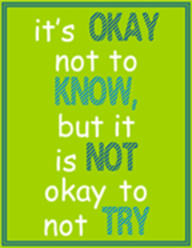 It's Okay Not to Know
