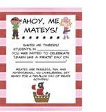 It's Pirate Day! Math and LIteracy Activities for a Day of