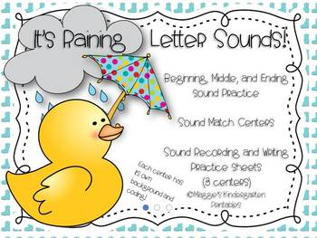 It's Raining Sounds! (beginning, middle and ending sound i