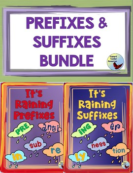 Prefix & Suffix Graphic Organizer Bundle Great for Gen ED