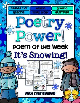 Poem of the Week: It's Snowing Poetry Power!