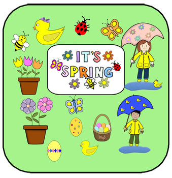 It's Spring!  14 Spring Clip Art in PNG format with transp