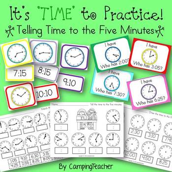 It's 'TIME' to Practice! Activities for Telling Time to th
