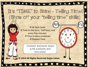 TIME to shine: Telling Time Task Cards
