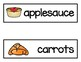 Vocabulary Word Cards--Lunch