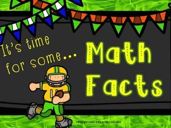 MATH FACTS Math Centers CCSS 1.OA.5 1.OA.6