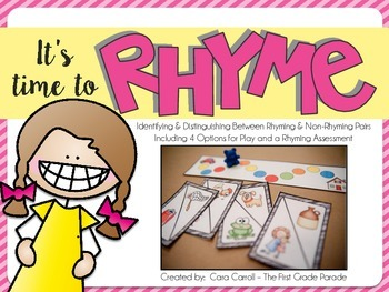 It's Time to Rhyme (Guided Reading Phonics Activity)