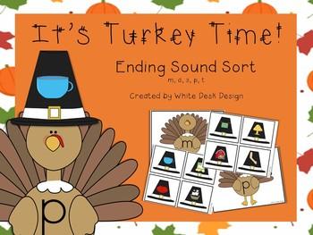 Its Turkey Time! Ending Sound Sort