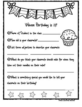 It's Your Birthday! Classroom template for Creating a Birt