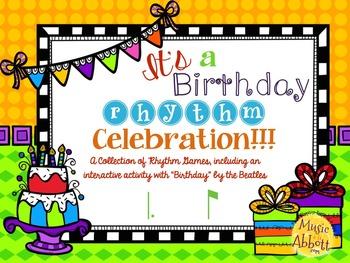 It's a Birthday Rhythm Celebration!!!  {tam-ti version}
