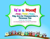 Owl Clipart It's a Hoot! Frames Backgrounds Borders for Co