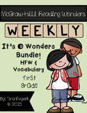 It's a Wonders Bundle! Vocabulary and HFW Practice Pages 1