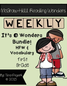 It's a Wonders Bundle! ~First Grade~ Vocabulary and HFW Pr