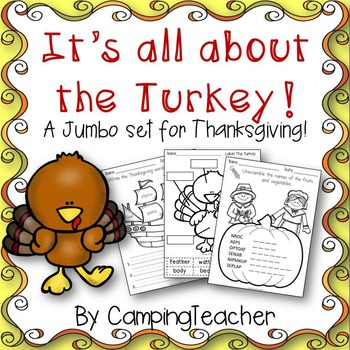 It's all about the Turkey!  A Jumbo Math & Literacy Set fo