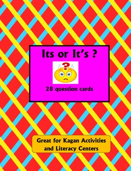 Its or It's question cards