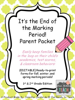 It's the End of the Marking Period! Progress Reports -Goal