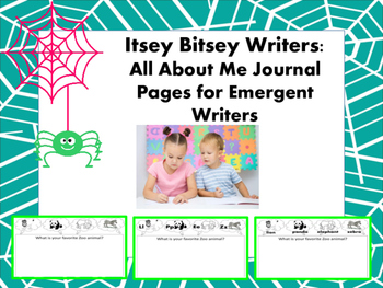 Itsey Bitsey Writers - All About Me Journal Pages