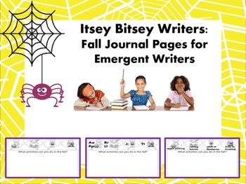 Itsey Bitsey Writers - Fall Journal Pages