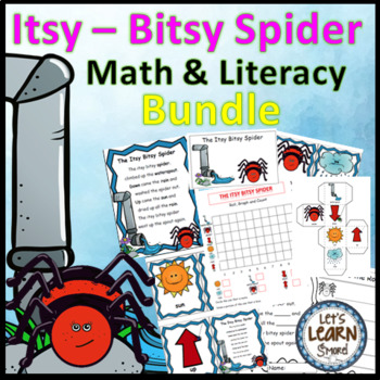 Itsy Bitsy Spider Math and Literacy Activity Bundle, Spide