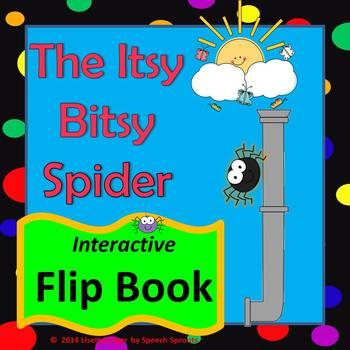 Itsy Bitsy Spider Flip Book for Preschool and Kindergarten