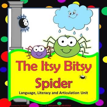 Itsy Bitsy Spider Speech Therapy Language & Literacy Unit