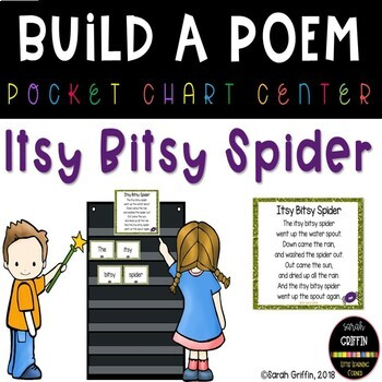 Build a Poem ~ Itsy Bitsy Spider ~ Pocket Chart Center