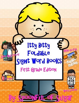 Itty BItty Foldable Sight Word Books (Dolch First Grade List)