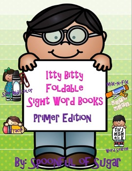 Itty BItty Foldable Sight Word Books (Dolch Primer List)