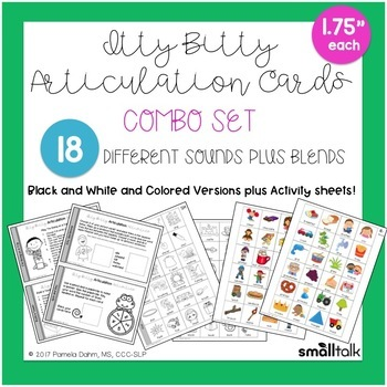 Itty Bitty Articulation Cards Combo Set