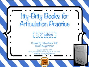 Itty-Bitty Books for Articulation Practice - S, Z set