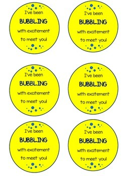 I've been bubbling with excitement to meet you TAGS
