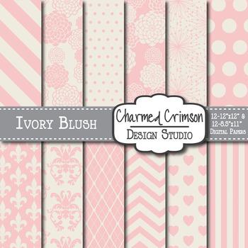 Ivory Blush Digital Paper 1031
