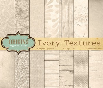 Ivory Digital Paper textures, backgrounds, rustic wedding