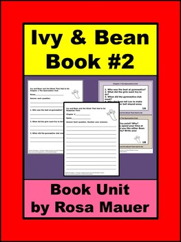 Ivy and Bean Book 2 Reading Comprehension
