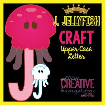 J - Jellyfish Upper Case Alphabet Letter Craft