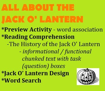 HALLOWEEN - THE JACK O' LANTERN - chunked informational/fu