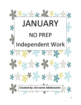 JANUARY Independent Practice Packet