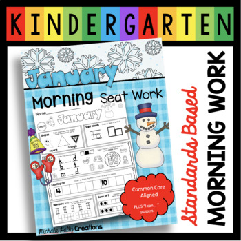 JANUARY Morning Seat Work - Common Core Aligned - I CAN Po