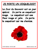 JE PORTE UN COQUELICOT FRENCH REMEMBRANCE DAY MINI-UNIT