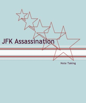 JFK Assassination: Note Guide for Online Interactive Tool #edtech