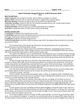 JFK - Inaugural Address - Craft & Structure