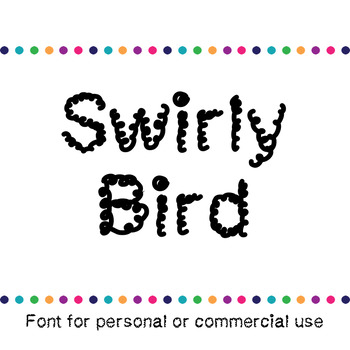 JM Swirly Bird Font