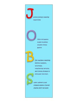 JOBS Bookmark