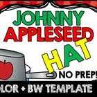 JOHNNY APPLESEED CRAFTS: HAT TEMPLATE: JOHNNY APPLESEED HAT: APPLE THEME CRAFTS