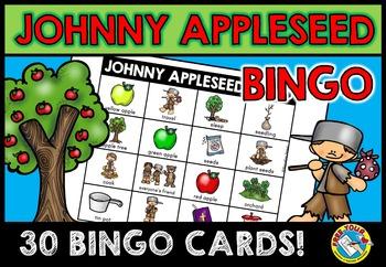 APPLE ACTIVITIES: WHOLE CLASS BINGO GAME SET: JOHNNY APPLE