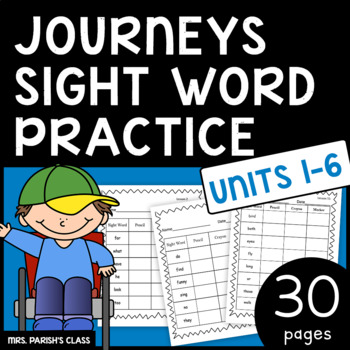 JOURNEYS SIGHT WORDS!! ALL 30 LESSONS!